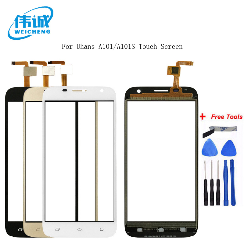 WEICHENG 5.0 '' Touch Screen Digitizer For Uhans A101 A101S Front Glass Lens Mobile Phone Touch Panel Sensor Tools