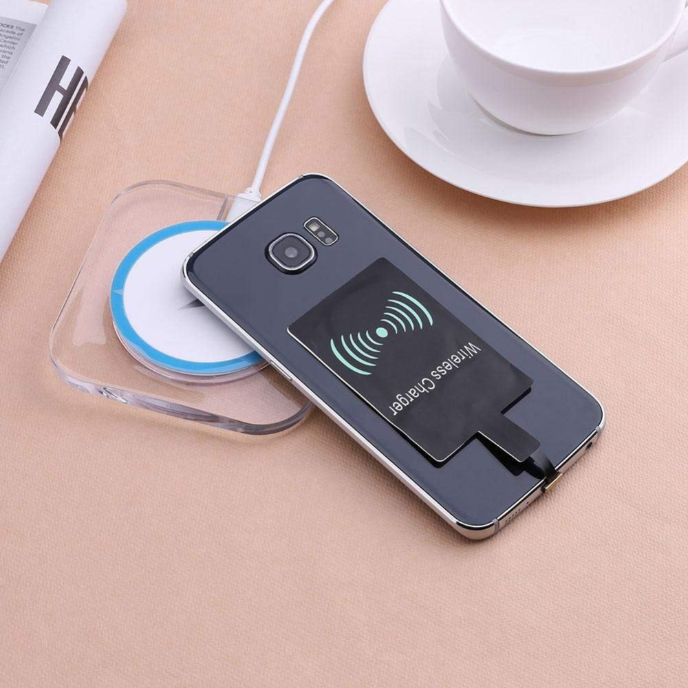 Ascromy Micro USB Qi Wireless Charging Receiver Adapter For Xiaomi Redmi Note 6 Pro 6A Huawei P Smart Honor 8x Microusb Charger (7)