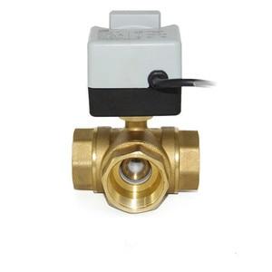 Image 3 - مفتاح كهربائي لتدفّق المياه الكرة 3 طريقة واحدة صمام بوشون اتجاهين ثلاثة أسلاك اثنين التحكم AC220V لولبة داخلية سبايك أدوات التكييف