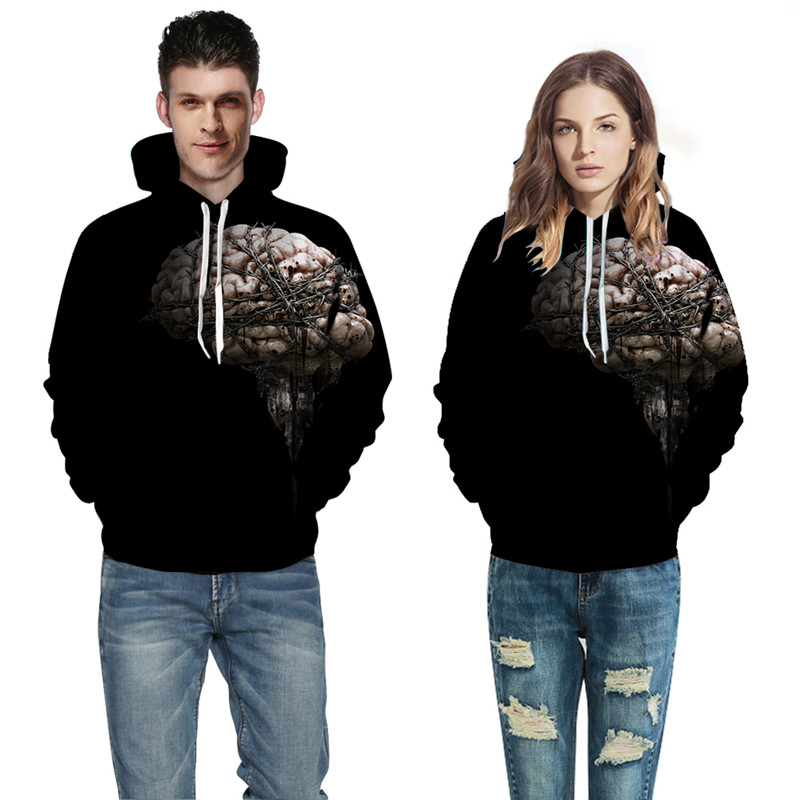 yufeida New Pattern Fashion Men Women Hoodie 3D Printing Couples Streetwear Womens Sweatshirts Coats Colorful Tracksuits Pocket