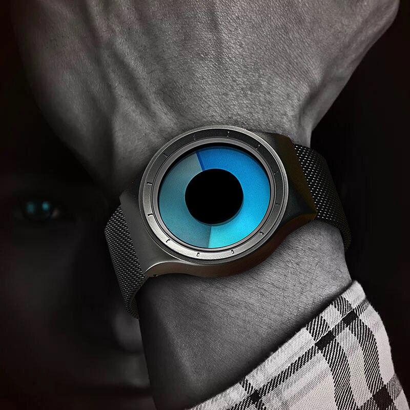 GEEKTHINK Relógios de Quartzo Dos Homens Top Marca de Luxo Casual Relógio Unisex Relógio Banda Malha de aço Inoxidável feminino Masculino Cavalheiro presente