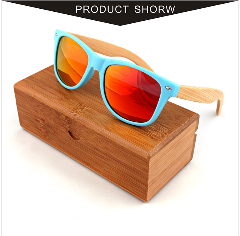 Custom travel fashion is too light, polarized light, and the blue plastic frame of the blue plastic frame of the bamboo