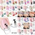 Diseño de uñas Adhesivos Decorativos Animal Gato Decoración de Uñas Nail Art Calcomanías de Agua Pegatinas Transferibles Para Uñas Palos BXFLLL1