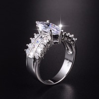 Big Hot Sale Luxury Marquise Cut 3 Carat Simulated Diamond Wedding Ring For Women Jewelry Have