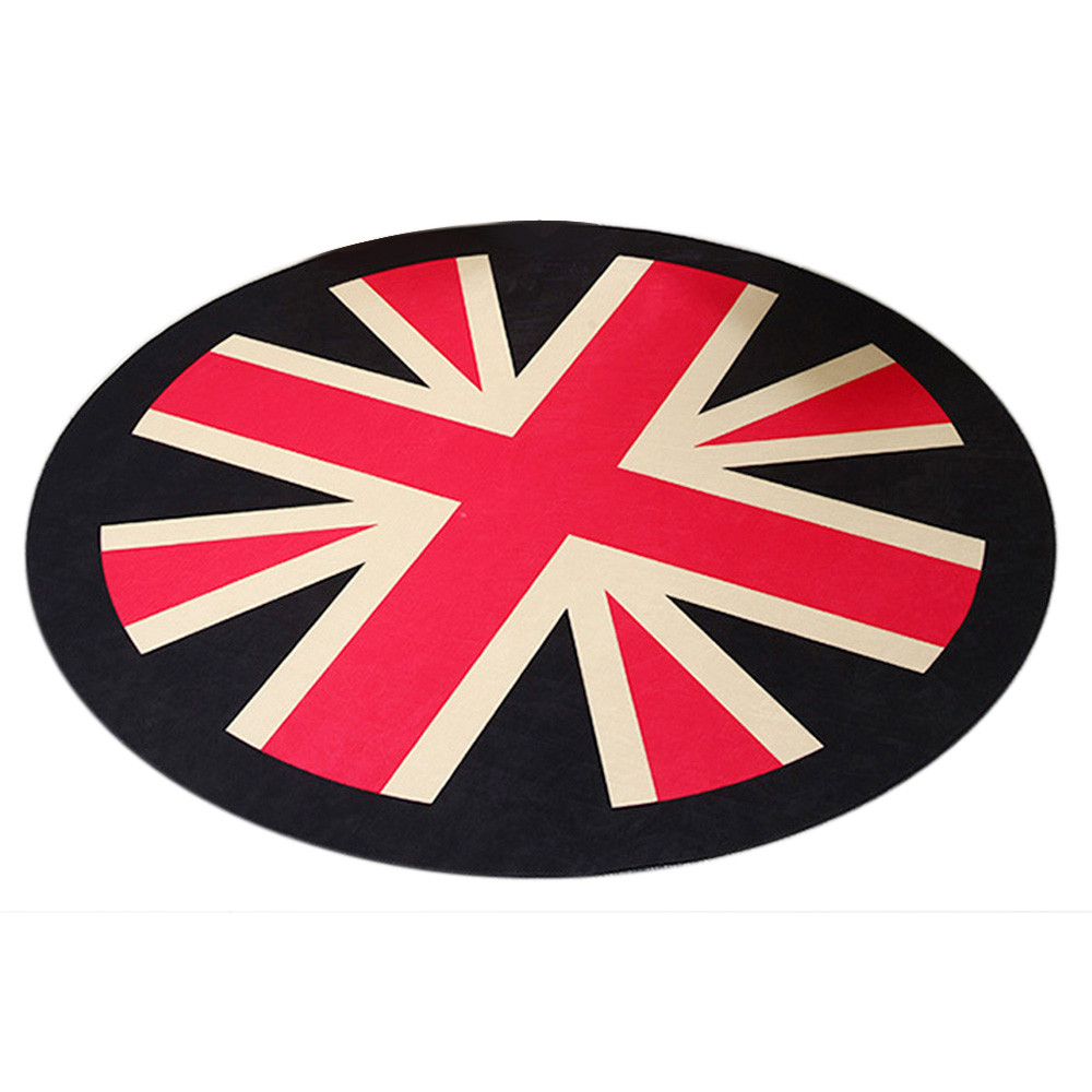 Custom in front of the union jack anti slip mats round for Ohrensessel union jack