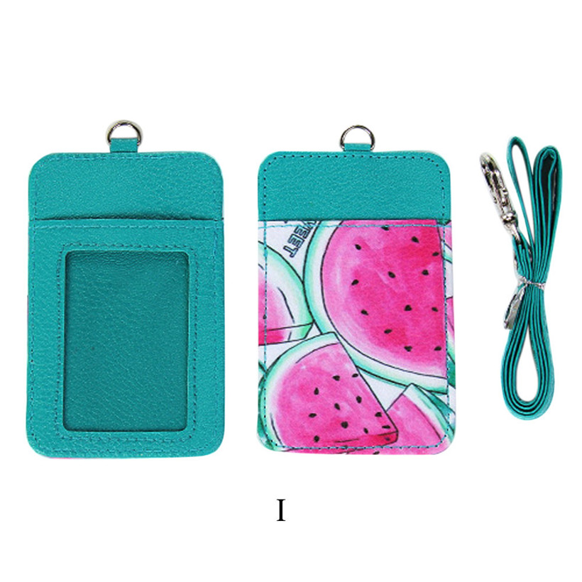 цена на Xiniu Card Holder Case Novelty Winter Fruits Neck Hanging & Key Hook BUS & ID Card Holder Case Pouch BAG Women Holder