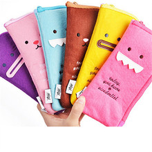 Plush pen expression more creative cartoon funny expression kinetic stationery bag W2.95