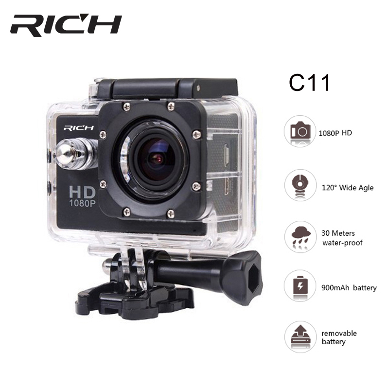Sport Action Camera Helmet Camcorder 8MP 140 Degree 1080P Wide Angle 2.0 LCD Waterproof sport camera 30M Extreme Action DV Cam