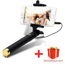 Universal Luxury Handheld Camera mini Selfie Stick Monopod for iphone 6 6s Plus 5 5s Wired Palo Selfie Groove Camera Para