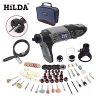 HILDA Russia 220V 180W Dremel Electric Rotary Power Tool Mini Drill With Flexible Shaft 133pcs Accessories