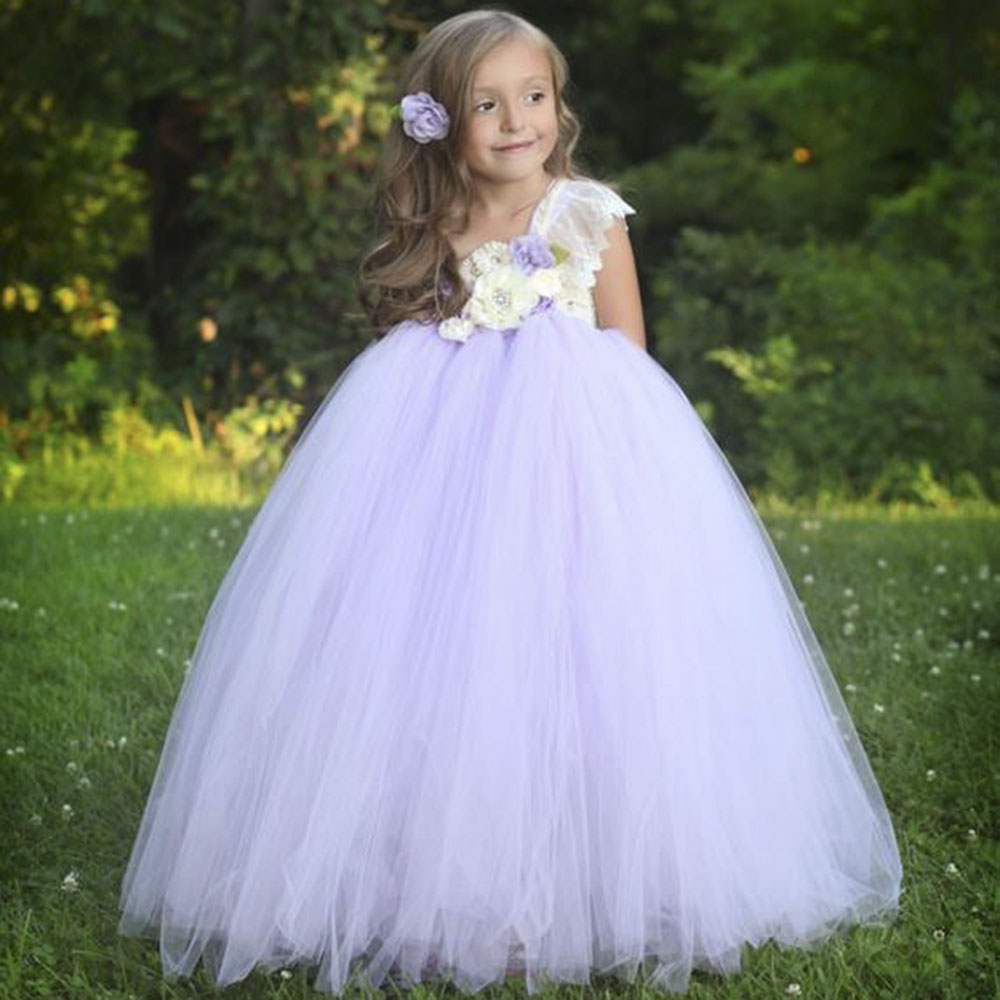 36329642d Detail Feedback Questions about Lavender Flower Girls Dress for Kids ...