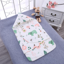 For 0-12 Months Newborn Baby Toys Hooded Swaddle Wrap 100% Cotton Soft Infant Products Blanket & Swaddling