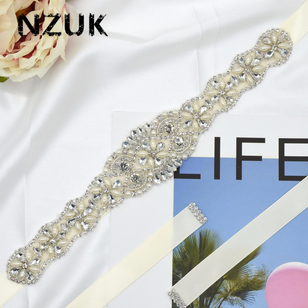 Bridal Sash Belts Women's Rhinestone Wedding Dress Belt Handmade Waistband Luxuy Brand Bride Bridesmaids Cummerbunds Girdle