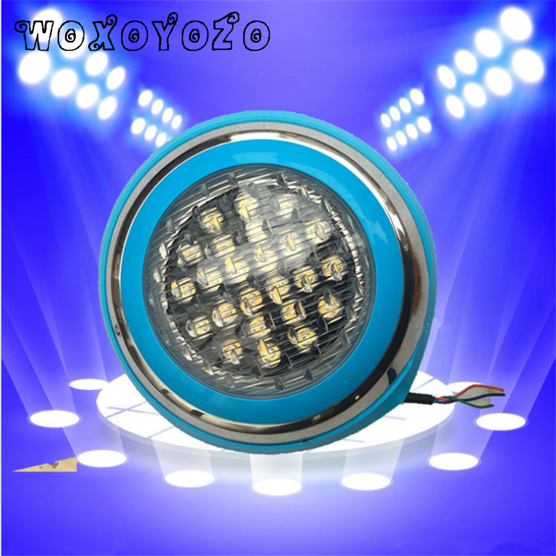 New RGB Outdoor Lighting LED Swimming pool light remote control AC 12V Pond lights led piscina LED IP68 54W underwater Lamp