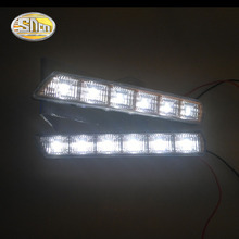 купить SNCN LED Daytime Running Lights for Mitsubishi ASX 2010 2011 2012 12V ABS DRL Fog lamp driving lights дешево