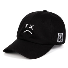 Lil Peep Dad Hat Embroidery 100% Cotton Baseball Cap Sad face Hat xxxtentacion Hip Hop Cap Golf Love lil.peep Snapback Women Men(China)