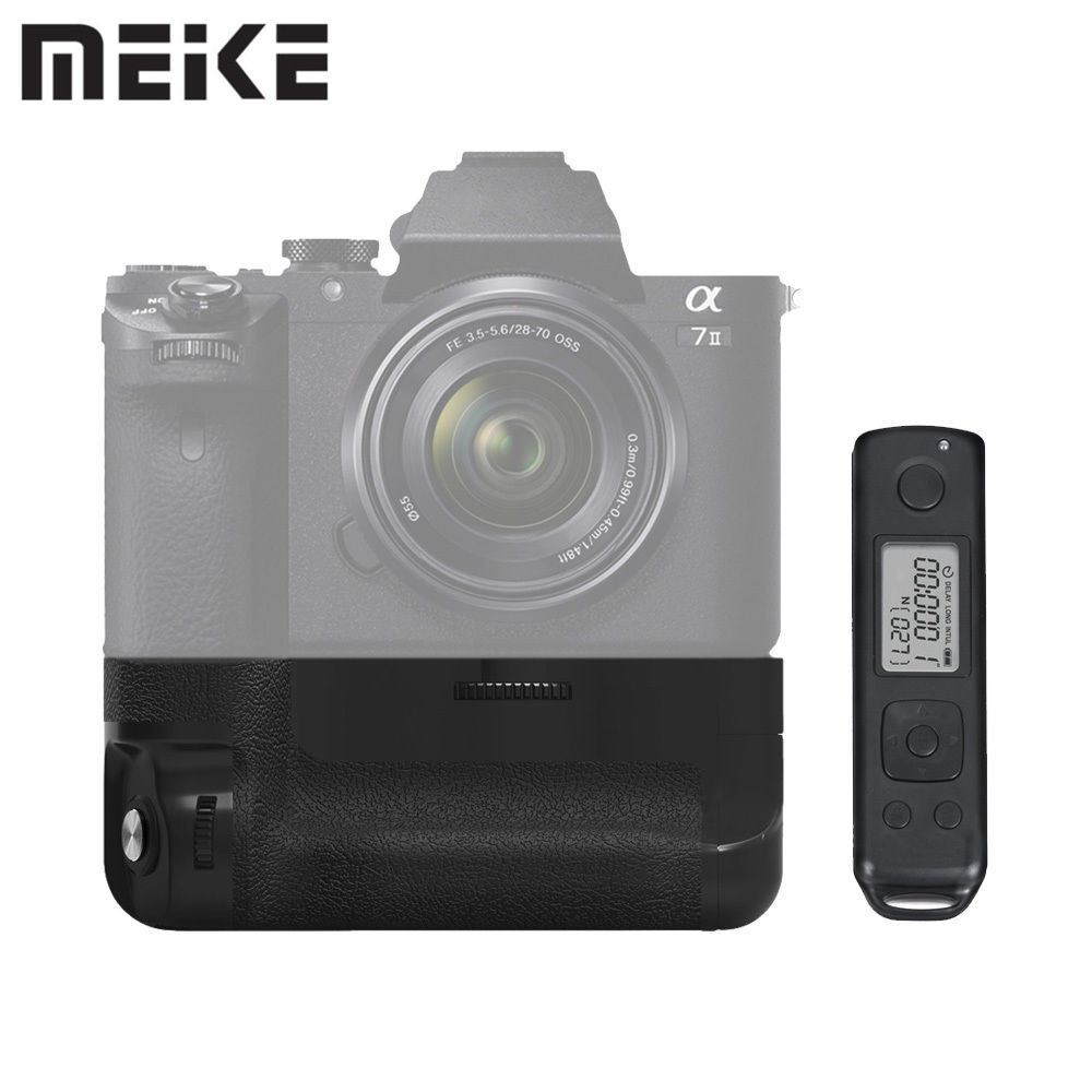 Meike MK-A7II Pro Built-in 2.4g Wireless Control Battery Grip for Sony A7 II A7R II as Sony VG-C2EM With Remote ss8550 y2 sot 23