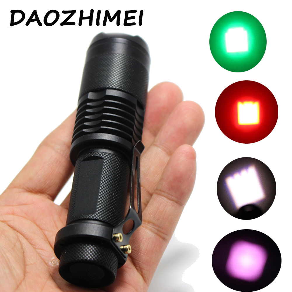 1000 Lumens Zoom LED Flashlight Hunting Light IR 850nm Green Red White light /Spotlight  ...