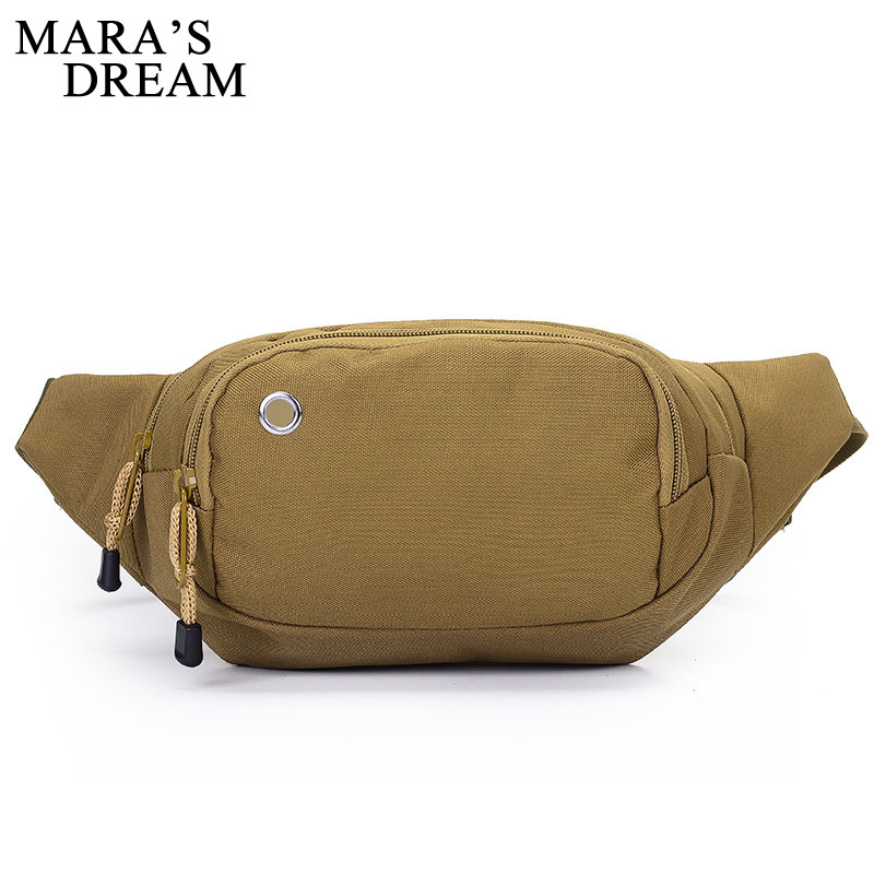 Mara's Dream Waist Bag New Fashion Canvas Fanny Pack Travel Men Belt Bag Waist Bags Phone Money Zipper Bum Bags Wasit Pack Male