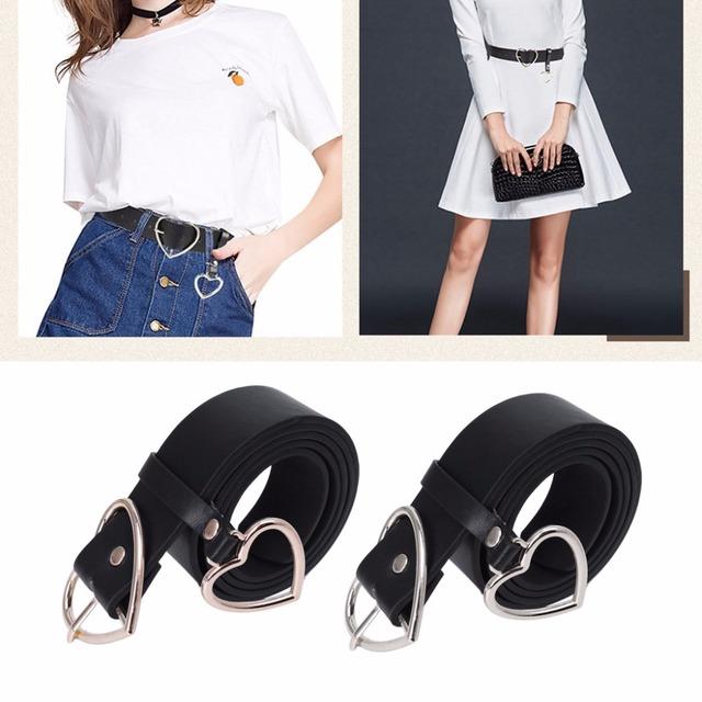 Heart Shaped Leather Belt for Women