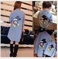 Alikes Vestido família Dos Desenhos Animados de Mickey Mouse Camisa Primavera Queda Crianças Camisas de Manga Longa Meninos Camisa Roupas Casuais Mãe Roupa Do Bebê