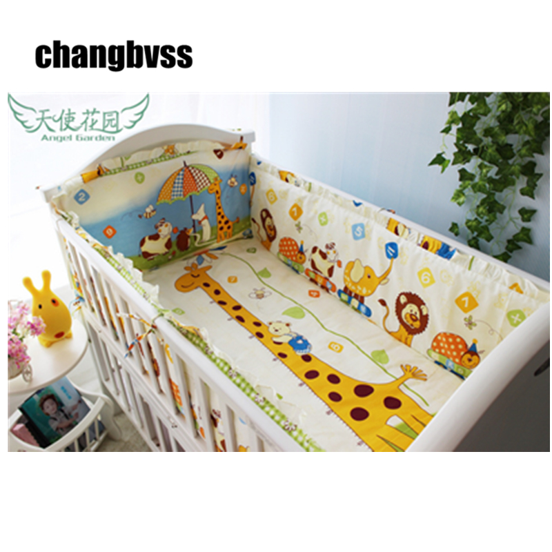 Cute Bumpers In The Crib 100% Cotton Baby Bedding Set 10 pcs/set Baby Nursery Bedding Sets Free Shipping boys girls favorite cotton bedding set baby bedding crib sets fast shipping and safety delivery beautiful cute baby bedding set