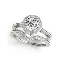 QYI вечности ювелирные кольца Блестящий Цирконий набор колец 925 пробы серебро свадебное кольцо для женщин кольцо подарок