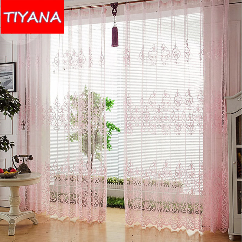 cortina de tule de luxo nova moda cortinas de renda tampa da janela haste de cortina