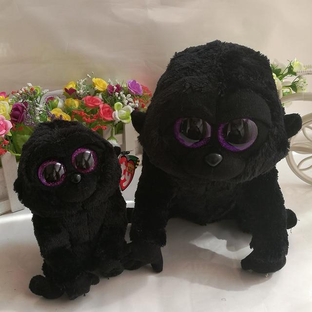 ... new arrival 738c6 76525 George gorilla chimpanzee TY BEANIE BOOS  2PCslot 25cm and 15CM BIG EYES ... 26b01551c8e