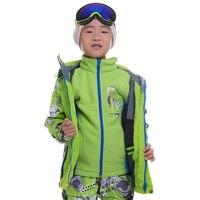 Dropshipping thickened wind jacket girls boys waterproof windbreaker for 110 164 snow ski hooded jacket children winter coats