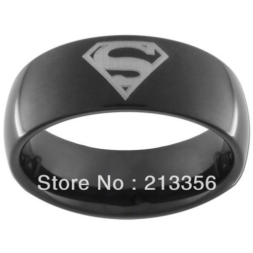 cheap price promotion free shippingusa hot selling ec jewelry womenmens tungsten carbide wedding ring black superman rings - Superman Wedding Ring