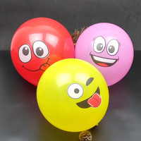 100Pcs/Lot 12 inch Emoji Party Supplies Emoji Balloons Smiley Face Expression Party Balloons Event Smiley Balloon Party Wedding