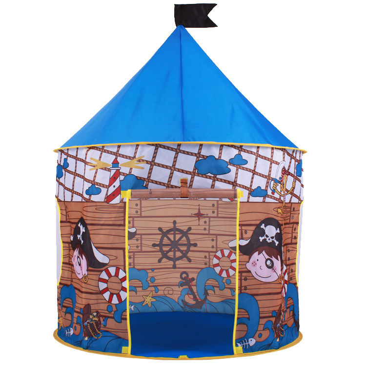 baby pirate CastleTent Baby Toy Play Game House, Kids Princess Prince Castle Indoor Outdoor Toys Tents Birthday Gifts