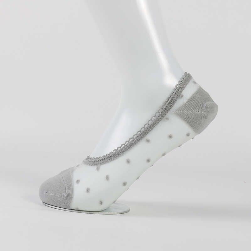 DONG AI Moda Stil Mokasen Kızlar Dantel Çorap Kısa Çorap Antiskid Görünmez Ayak Bileği Çorap 2019 Sox Yaz Pamuk Düşük Kesim calcetine