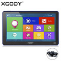 XGODY 7 Дюймов 256 М 8 Г Емкостный Экран Bluetooth AV-IN Автомобиля грузовик GPS Навигации FM Навигатор с Камерой Заднего вида Европа карты