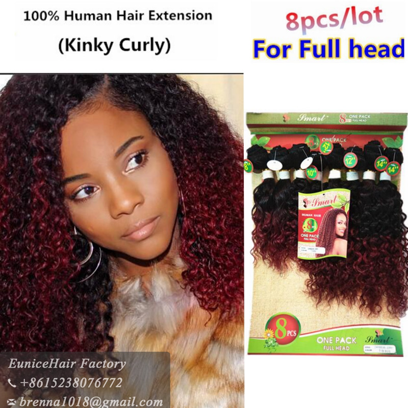8bundles Per Pack For Full Head Human Natural Braizlian Hair Kinky