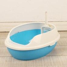 Pet Large Cat Litter Box Sand Scoop Health Bag Toilet House Plastic Shovel Arena Para Gatos Pee Supplies Cats 80A2479