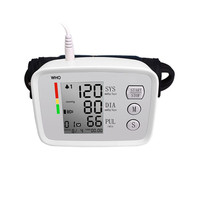 Electronic blood pressure meter intelligent arm type large screen display voice prompt lithium battery power supply USB charge