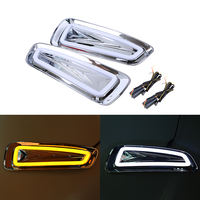 Car DRL led daytime running light for Ford F150 Raptor 2010 2011 2012 2013 2014 2 Color DRL Driving Day Light Led auto car style