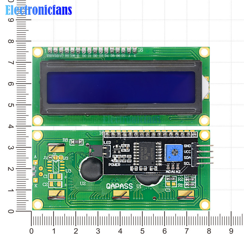 INTERFACCIA SERIALE IIC I2C MODULO DI BORDO PORTA LCD1602 DISPLAY ARDUINO  PCE