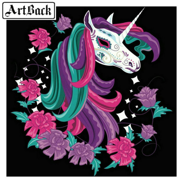 Full square drill 5D DIY diamond painting unicorn 3d diamond embroidery rhinestone mosaic crafts home decoration