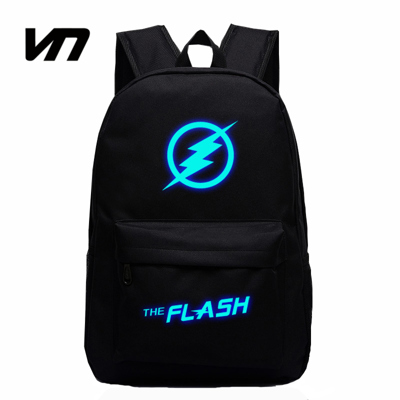 2016 Hot Sale Movie Captain America Avengers Flash Man Star Luminous Backpack Casual Teenager Backpacks Travel Bags For Fans
