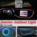 Para honda pilot 2003-2016 panel de iluminación de luz ambiental para el interior del coche interior del coche tuning fresco tira de luz óptica banda de la fibra