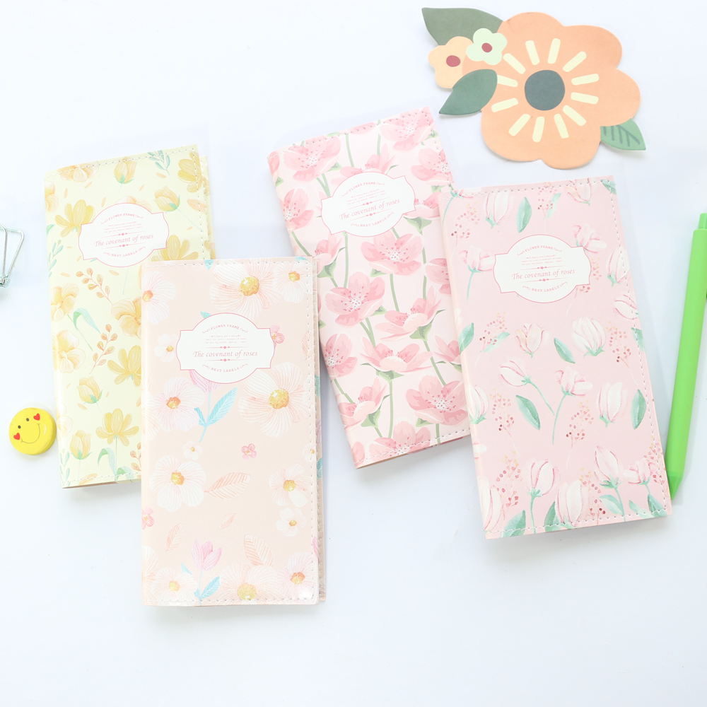 Cute flower design portable leather traveler journal notebooks,kawaii student daily weekly planner notebooks stationeryCute flower design portable leather traveler journal notebooks,kawaii student daily weekly planner notebooks stationery