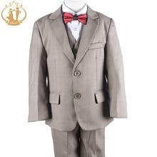 Nimble/костюмы для мальчиков на свадьбу; детский блейзер для мальчиков; блейзер цвета хаки; костюм для мальчиков; Enfant Garcon Mariage; костюмы для мальчиков; Terno Menino
