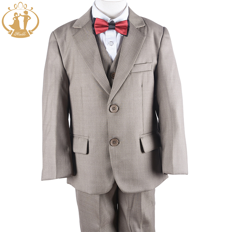Nimble Boys Suits for Weddings Children Blazer for Boys Khaki Blazer Boys Costume Enfant Garcon Mariage Boys Suits Terno Menino blazer conquista blazer