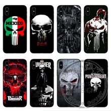 Marvel Game The Punisher Case Black Matte Soft TPU silicone Phone Coque Cover For iPhone X 10 5 5s se 6 6s Plus 7 7Plus 8 8Plus