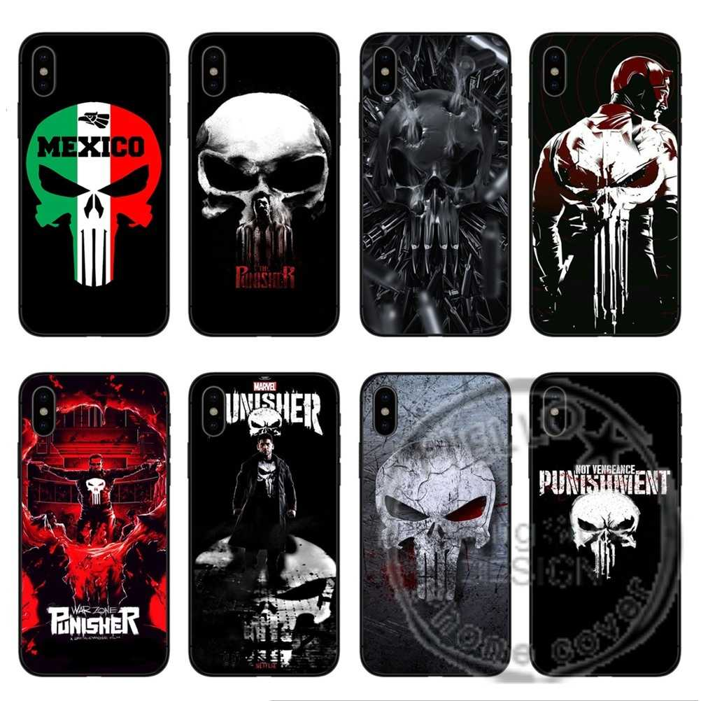 Marvel Game The Punisher Case Black Matte Soft TPU silicone Phone ...