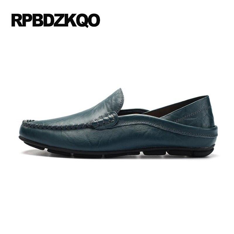 British Slip Confort Doux Printemps Décontractée 2017 Conduite bleu Vente De marron Style Chaussures Noir Tan Cuir On Mocassins Chaude Brun En Semelle Hommes xSAAXq4n