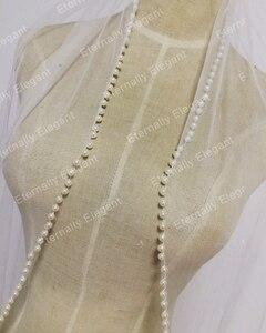 Image 3 - Gratis Verzending Bridal Veil Wit/Ivoor Korte Wedding Veil Bridal Veils Met Beadwork Bruiloft Accessoires Veu De Noiva MD3576